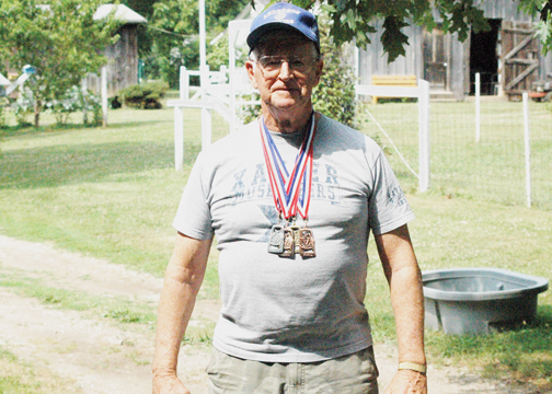 Larry West of Moscow competed in the Southwest Ohio Senior Olympics and won four medals in four different events.