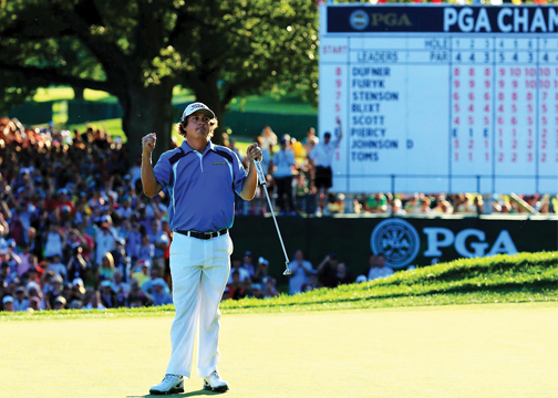 Defending PGA Champion Jason Dufner will be on hand in Louisville to defend his title next week. Play begins on Aug. 7.