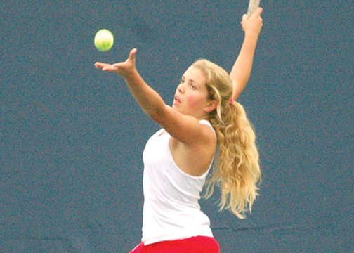 Bethel-Tate senior Chloe Henderson finished her high school tennis career at the district tournament last week.