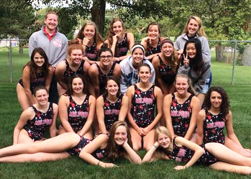 The Milford girls' water polo team finished in fourth place at the state tournament.
