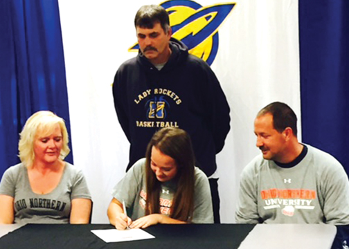 Clermont Northeastern first baseman Lexi Burden signs a NLI to play softball at Ohio Northern University.