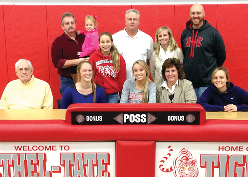 Bethel-Tate senior Brooke Jenike signs her National Letter of Intent to attend Florida Southern College to play basketball next year at a ceremony held at the high school on Nov. 24.