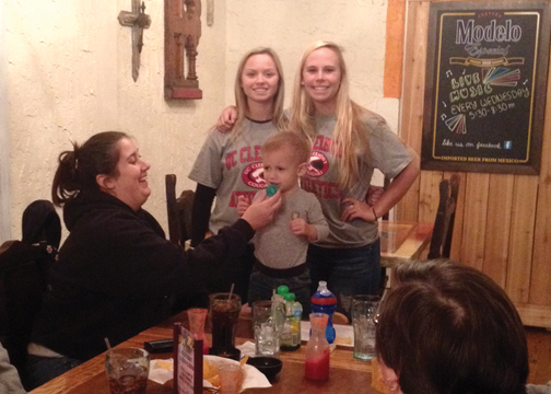 UC Clermont softball players pose during the team's fundraiser on Nov. 18.