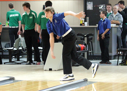 Amelia High School sophomore Nic Huber bowled his third perfect game on Dec. 8.