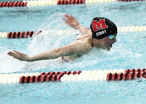 All five Clermont County swim teams competed in the SWOCC, including Milford, who hosted prelims on Saturday, Jan. 17.