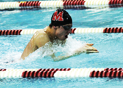 The Milford boys swim team finished in fifth place at the ECC Championships over the weekend.