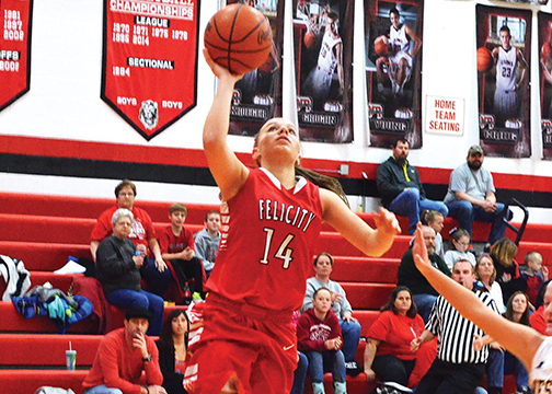 Felicity-Franklin's Ashley Moore is leading the Lady Cardinals on another post-season run.