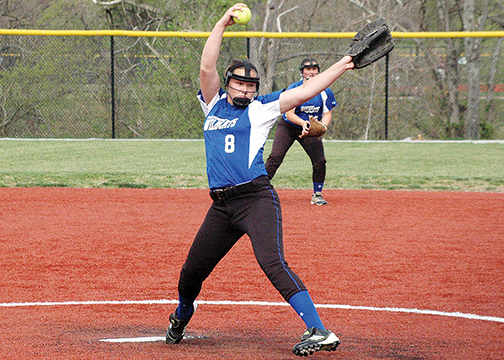 Williamsburg sophomore pitcher Kacey Smith is one of two hurlers the Lady Wildcats use this season.