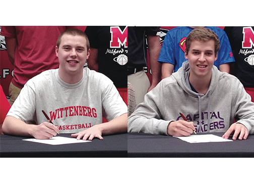 Ryan Gallimore signed with Wittenberg University and Will Hannah signed with Capital University.