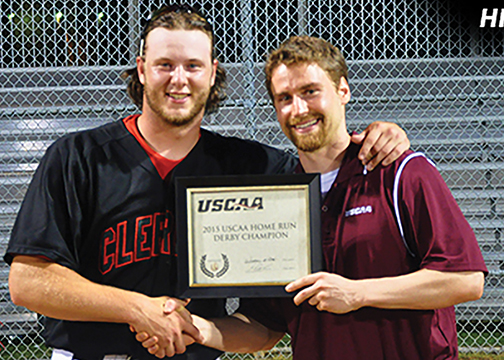 UC Clermont's Zach Shannon won the 2015 USCAA Small College World Series Home Run Derby on May 12. He hit 18 home runs over three rounds.