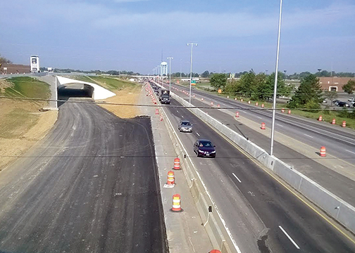 The newly constructed flyover and tunnel ramps in Eastgate are expected to open in late August or early September.