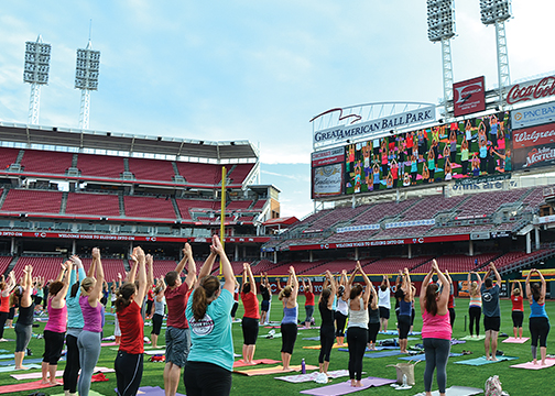 Reds and Great American Ballpark to host 'Sliding into Om' on Saturday, Sept. 12
