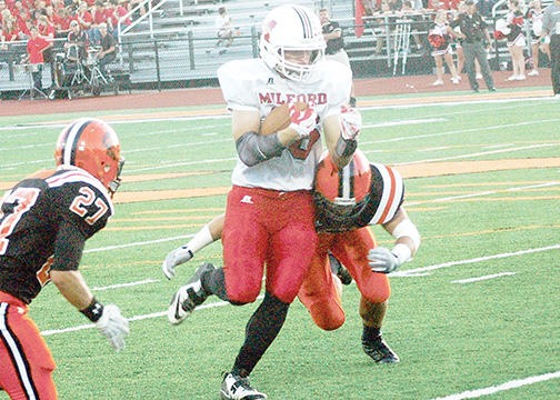 Milford senior receiver Ben Greenwell has been the Eagles' most potent aerial threat this season. (File photo)