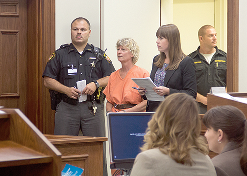 Magistrate Anita Bechmann set Alayne Schmogrow's bond at $150,000 during a bond hearing on Aug. 17, 2016.
