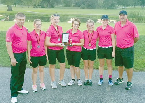 The CNE Lady Rockets golf team placed second in the Cincinnati Girls' Golf Conference championship tournament last week. The team also placed fifth in the sectional tournament on Sept. 26.