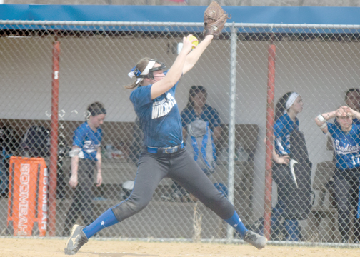 Williamsburg senior Kacey Smith homered in game one and tossed a one-hitter in game two of Williamsburg's doubleheader sweep over Reading on Saturday, March 25, 2017.