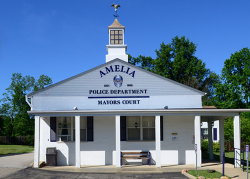 The village of Amelia council recently approved a $12,165 retroactive expenditure for work done to replace the police department building's roof and garage, pictured, located at 44 W. Main St., which was damaged during a recent storm. Photo provided.