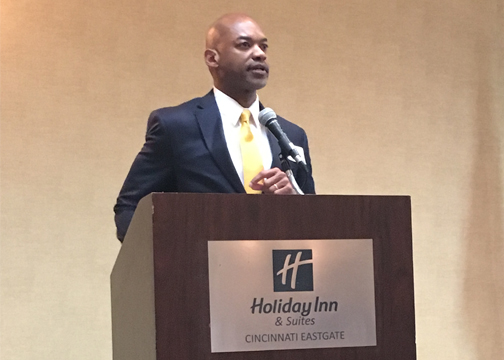 Mercy Health Clermont Hospital President Ken James, pictured, gave his presentation on the state of the hospital during a breakfast event hosted by the Clermont Chamber of Commerce on June 16, 2017 at Holiday Inn & Suites Cincinnati East, located at 4501 Eastgate Blvd.