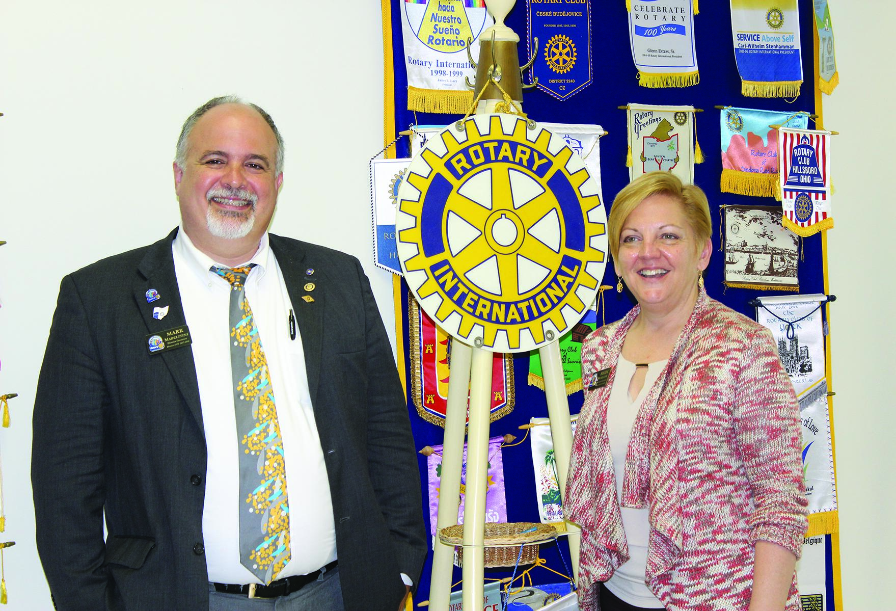 Rotary District 6670 Governor Mark Mabelitini visited the Batavia Rotary Club on August 1 with Assistant Governor Heidi Schiller.  Sheila Hinton, also a Rotary Assistant Governor, was in attendance but is not pictured.