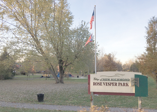 Some of the award money will be used to buy new park benches and add certified playground mulch at Rose VesperPark in the village of New Richmond, pictured.