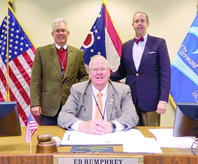 Photo, from left: Commissioners David Painter, Ed Humphrey and David Uible.