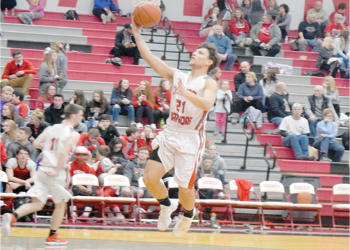 Goshen's Victor Hill led the Warriors with 15 points in Goshen's two-point defeat at the hands of Clinton-Massie on Friday, Jan. 5, 2018.